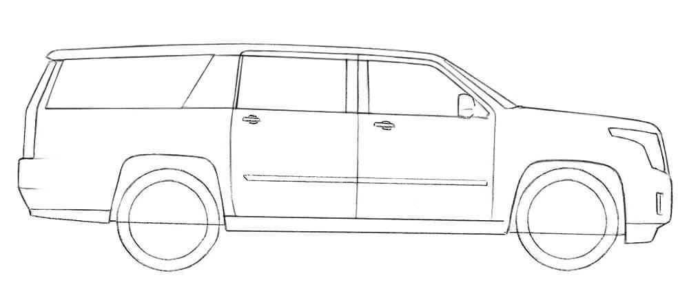 Как нарисовать Cadillac Escalade