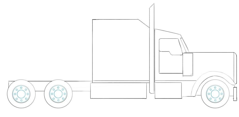 Как нарисовать американский грузовик