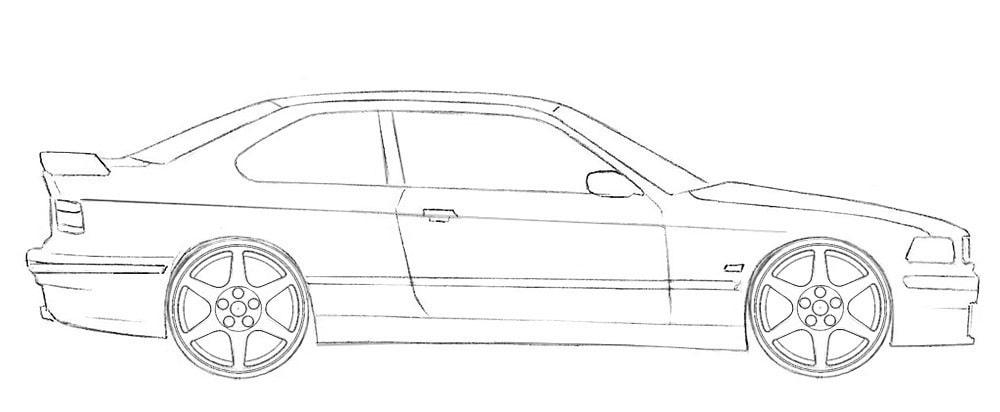 Как легко нарисовать автомобиль-купе