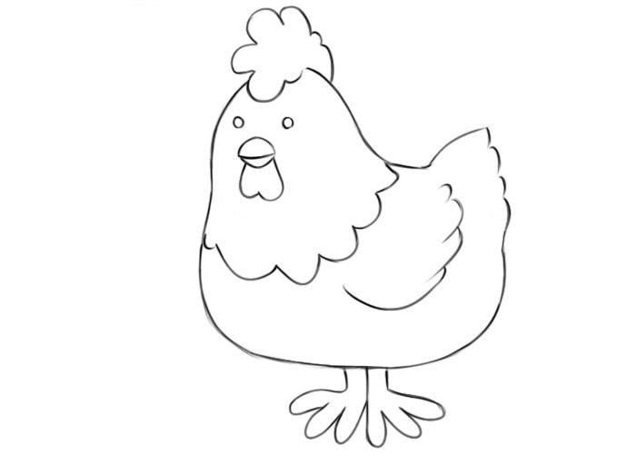 Как нарисовать курицу для детей