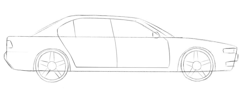 Как нарисовать машину для начинающих