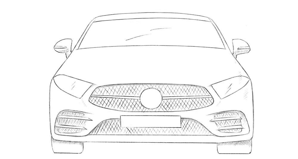 Как нарисовать машину спереди