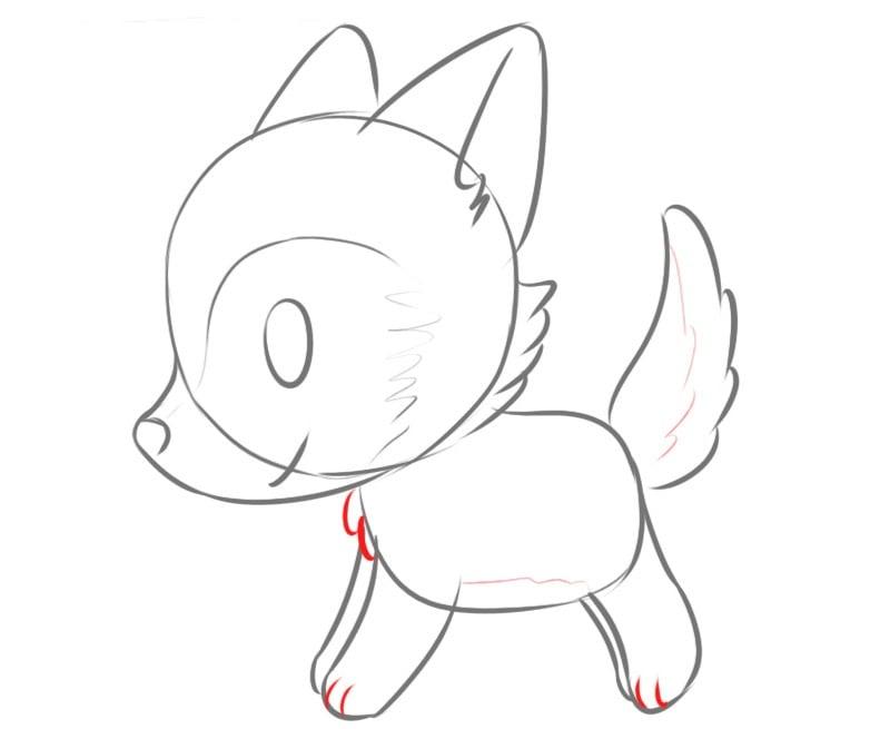 Как нарисовать волка для детей