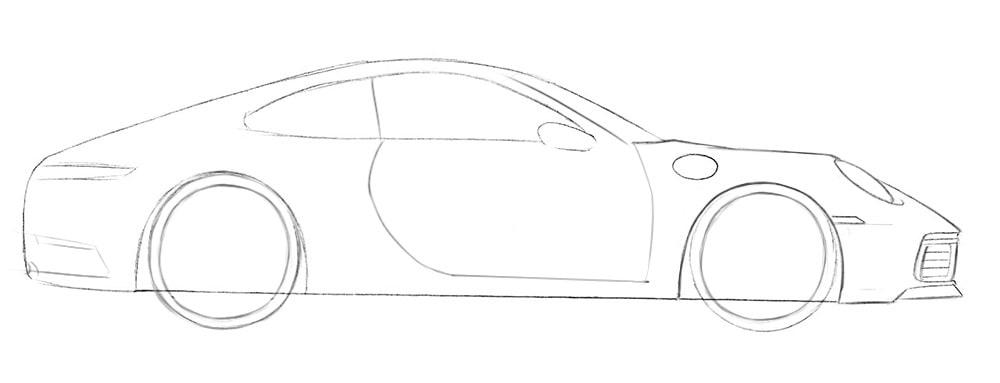 Как нарисовать суперкар Porsche 911