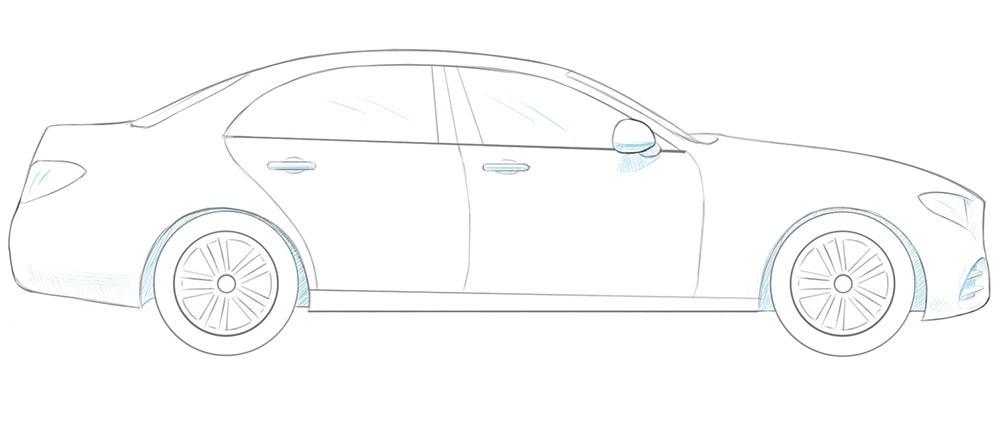 Как нарисовать 3D автомобиль
