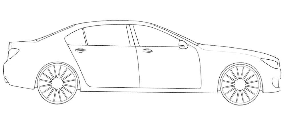 Как легко нарисовать автомашину