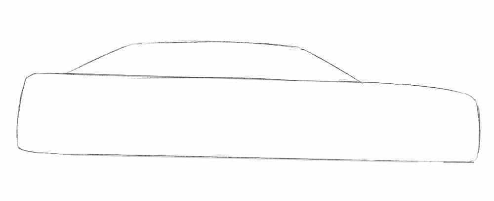 Как нарисовать автомобиль Chrysler 300c