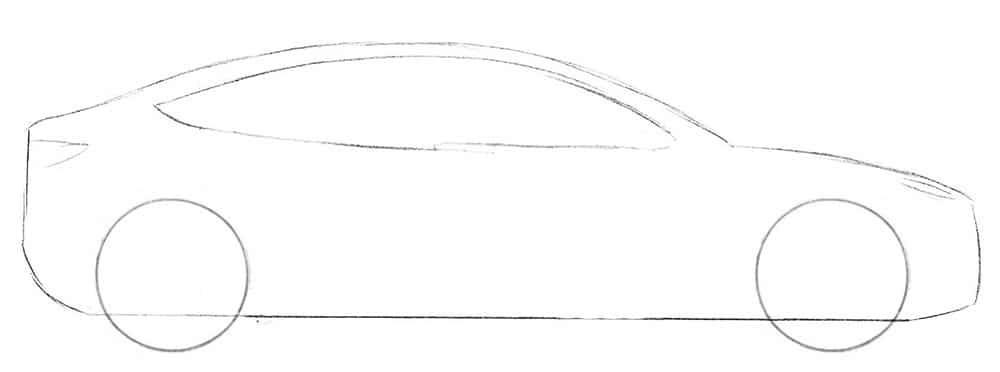 Как нарисовать Tesla Model 3