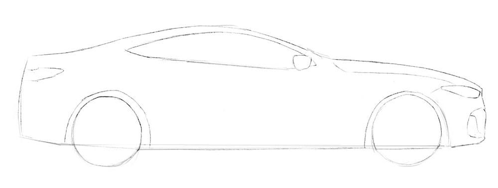 Как нарисовать автомобиль BMW 8