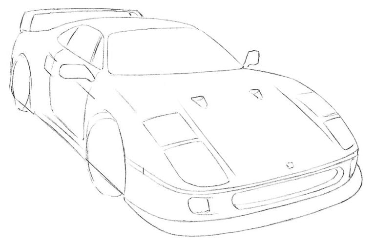 Как легко нарисовать автомобиль Феррари