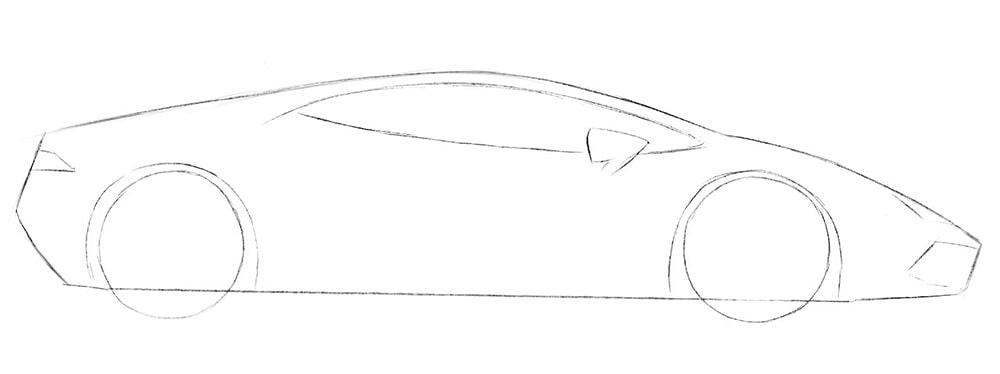 Как нарисовать суперкар