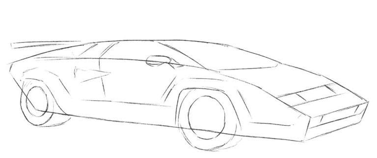 Как нарисовать Lamborghini Countach