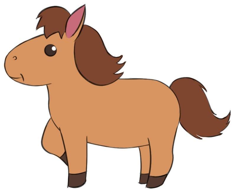 Как легко нарисовать лошадь для детей