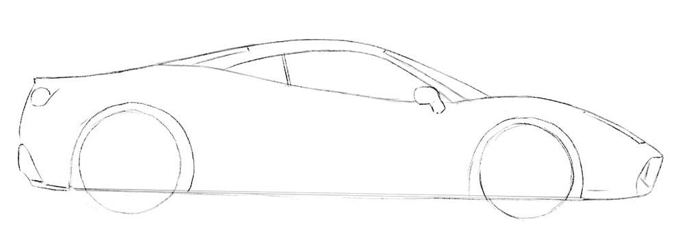 Как нарисовать авто Феррари