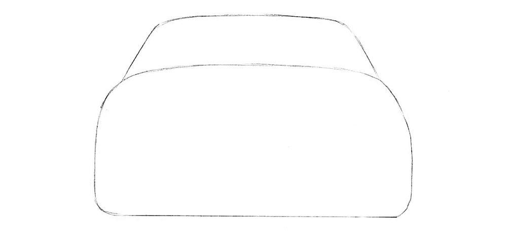 Как нарисовать машину сзади