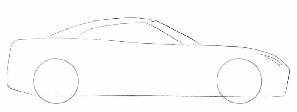Как нарисовать суперкар Nissan GT-R