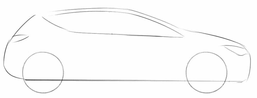 Как нарисовать Opel Astra
