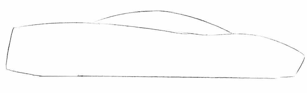 Как нарисовать автомобиль Pagani Huayra
