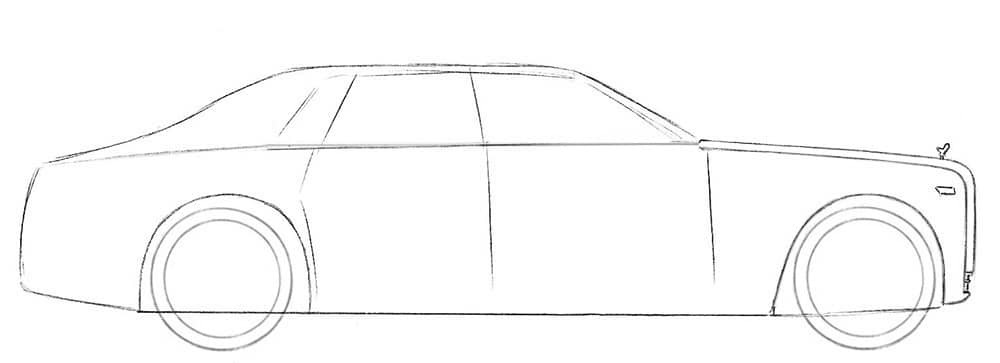 Как нарисовать роллс-ройс