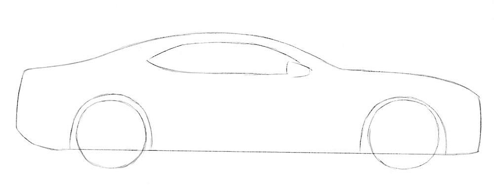Как нарисовать автомобиль Chevrolet Camaro