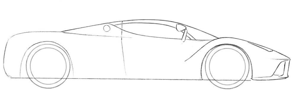 Как нарисовать автомобиль Феррари