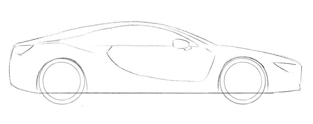 Как нарисовать автомобиль BMW i8