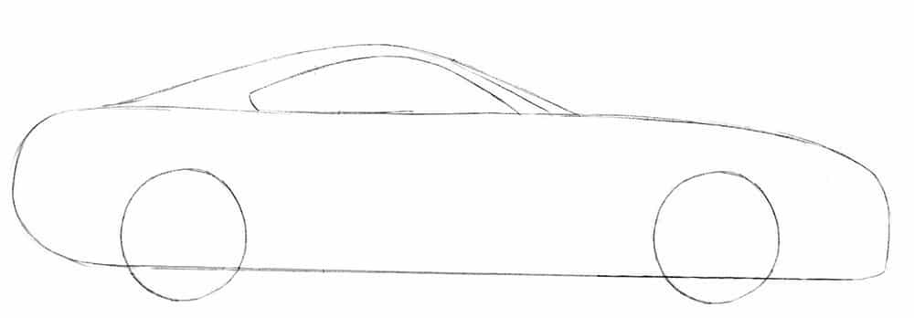 Как нарисовать суперкар Toyota Supra