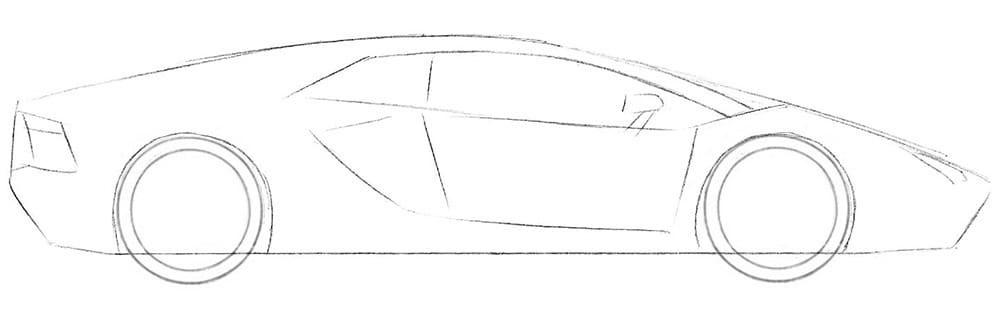 Как нарисовать Lamborghini Aventador