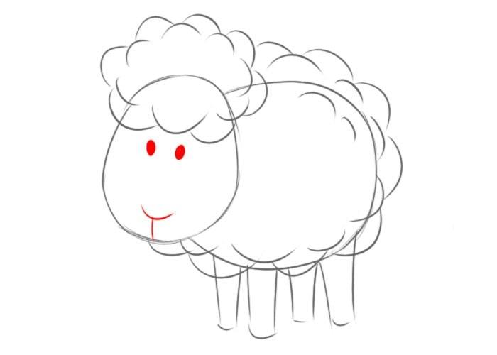 Как нарисовать овцу для детей
