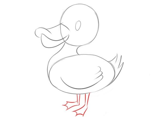 Как нарисовать утку для детей