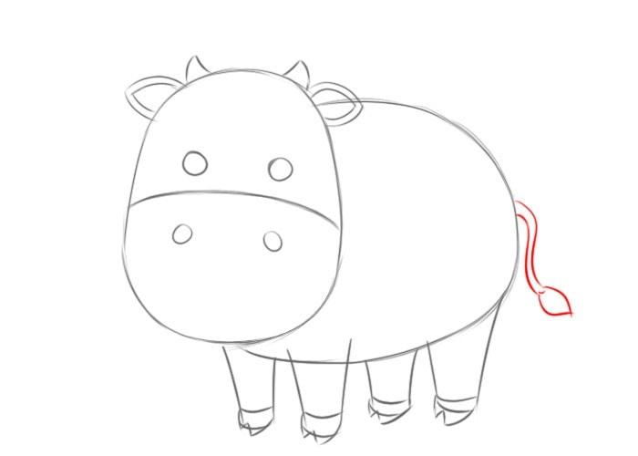 Как нарисовать корову для детей