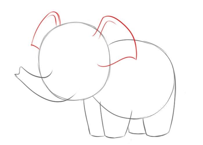 Как нарисовать слона для детей