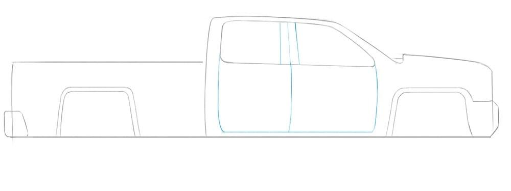 Как легко нарисовать пикап