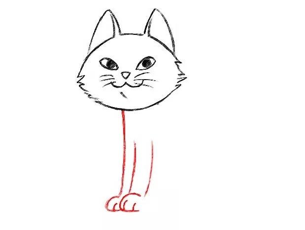 Как нарисовать кота для детей