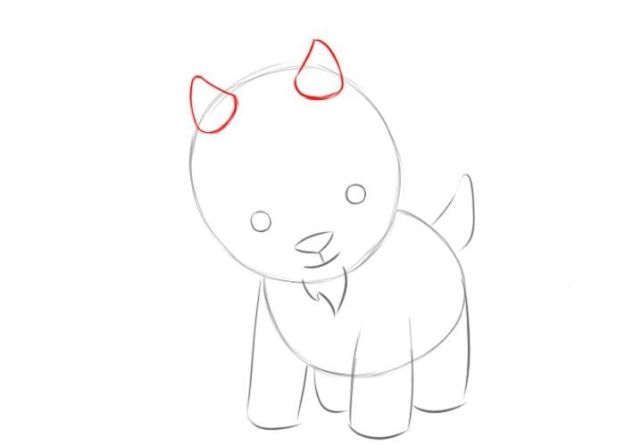 Как нарисовать козленка для детей