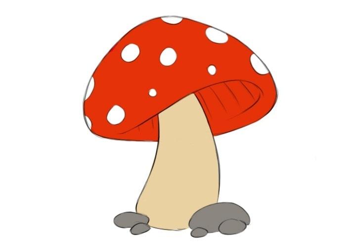 Как нарисовать гриб для детей