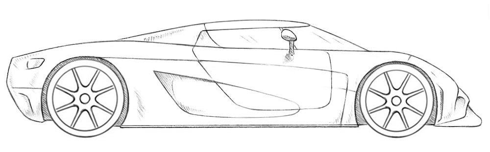 Как нарисовать суперкар Koenigsegg
