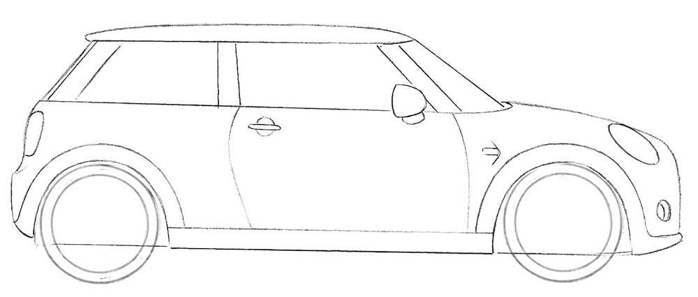 Как нарисовать Mini Cooper