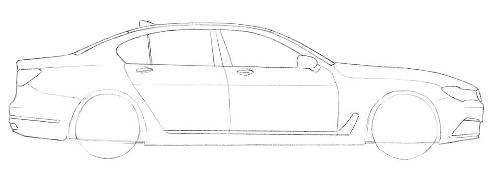 Как нарисовать авто BMW