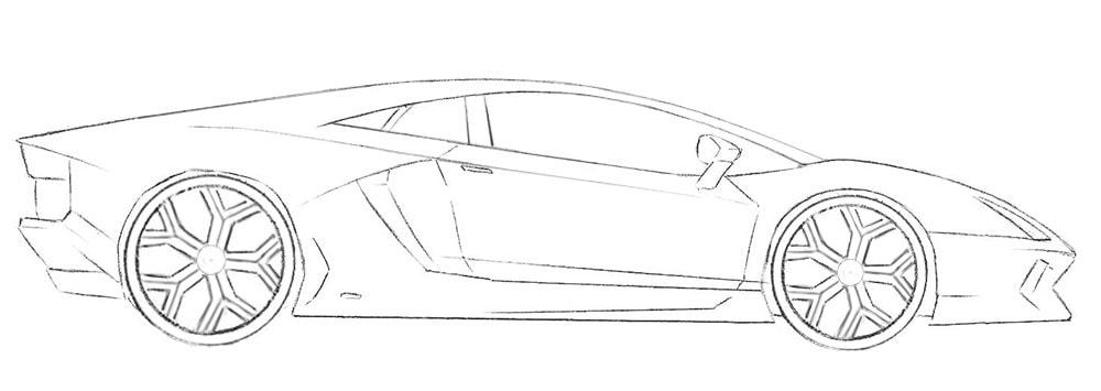 Как нарисовать авто Lamborghini