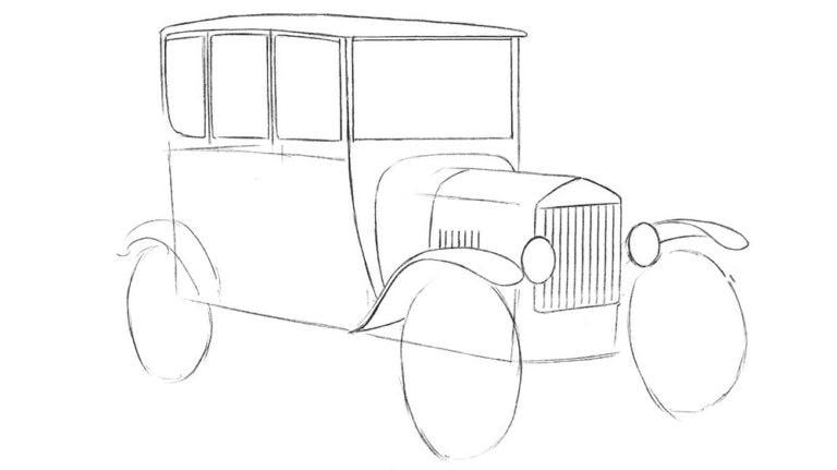Как нарисовать Ford Model T