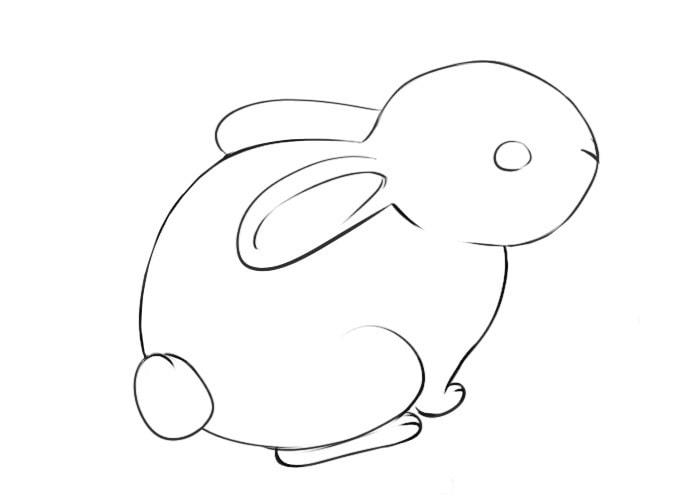 Как легко нарисовать кролика для детей
