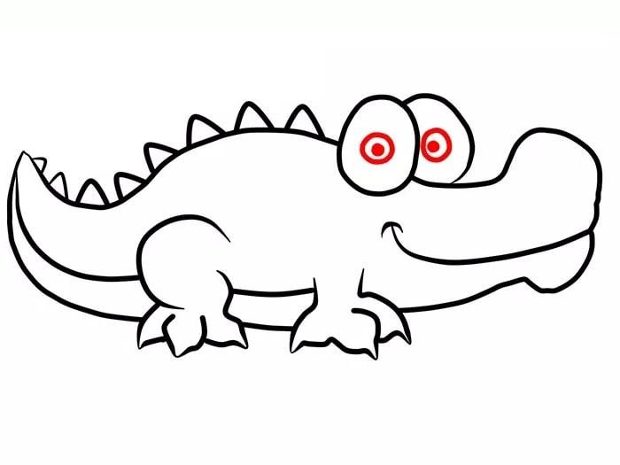 Как нарисовать крокодила для детей