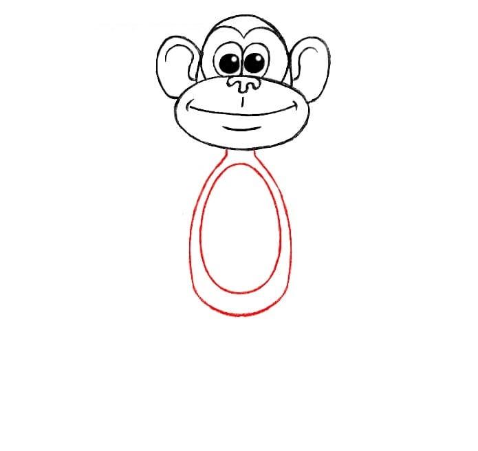 Как нарисовать обезьяну для детей