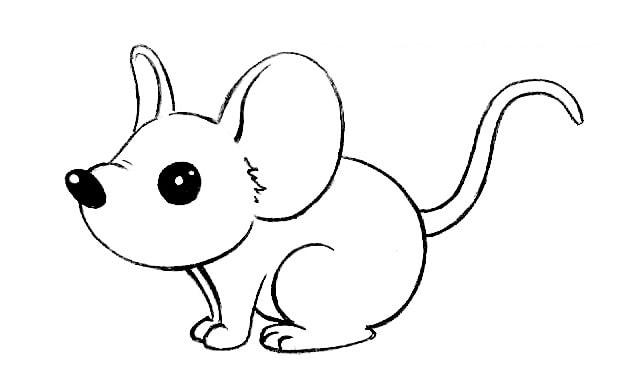 Как нарисовать мышку для детей