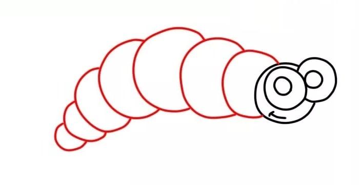 Как нарисовать гусеницу для детей