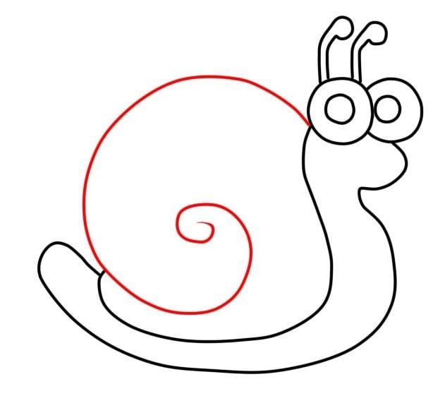 Как нарисовать улитку для детей