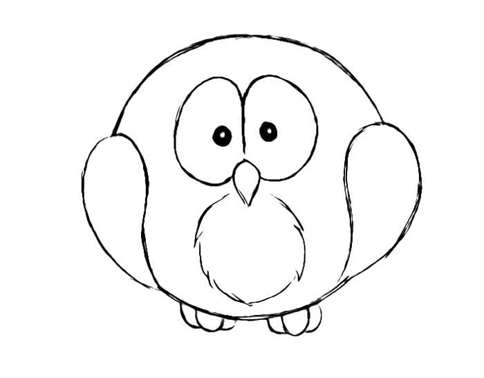Как нарисовать сову для детей