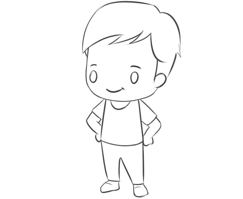 Как рисовать мальчика в стиле чиби