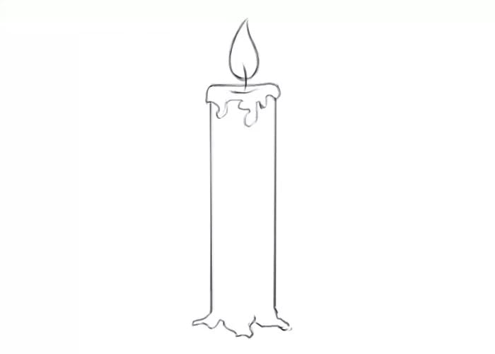 Как нарисовать свечу для детей
